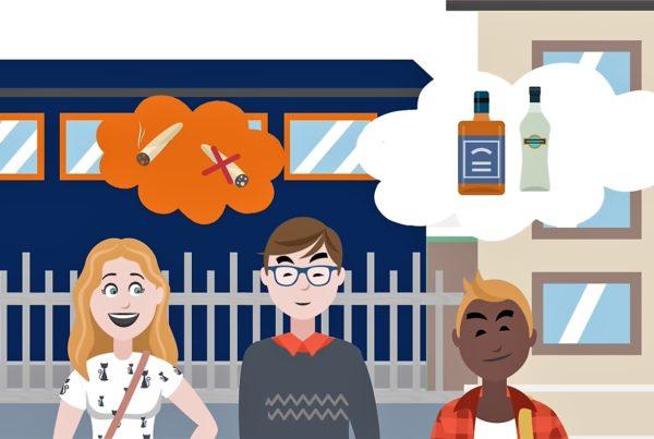 cartoon uit video gezondheidsmonitor jeugd flevoland